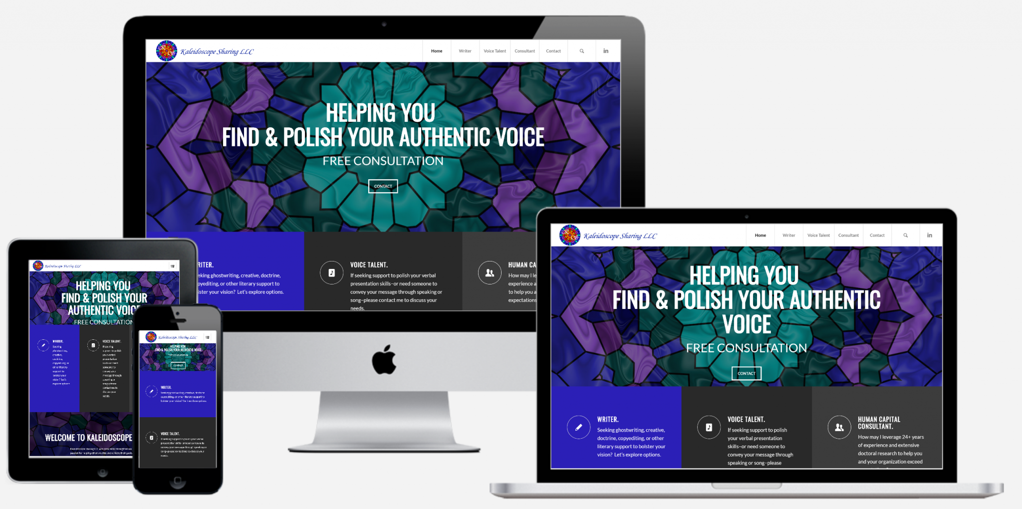 Kaleidoscope Sharing - Consultant Website
